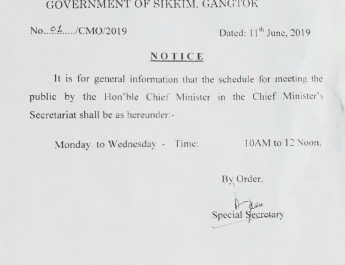 GENERAL INFORMATION TO MEETING THE HON'BLE CHIEF MINISTER