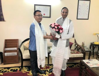 The Hon'ble Chief Minister Shri Prem Singh Tamang (Golay) calls on the Hon'ble Governor of Sikkim Shri Ganga Prasad at Old Sikkim House today