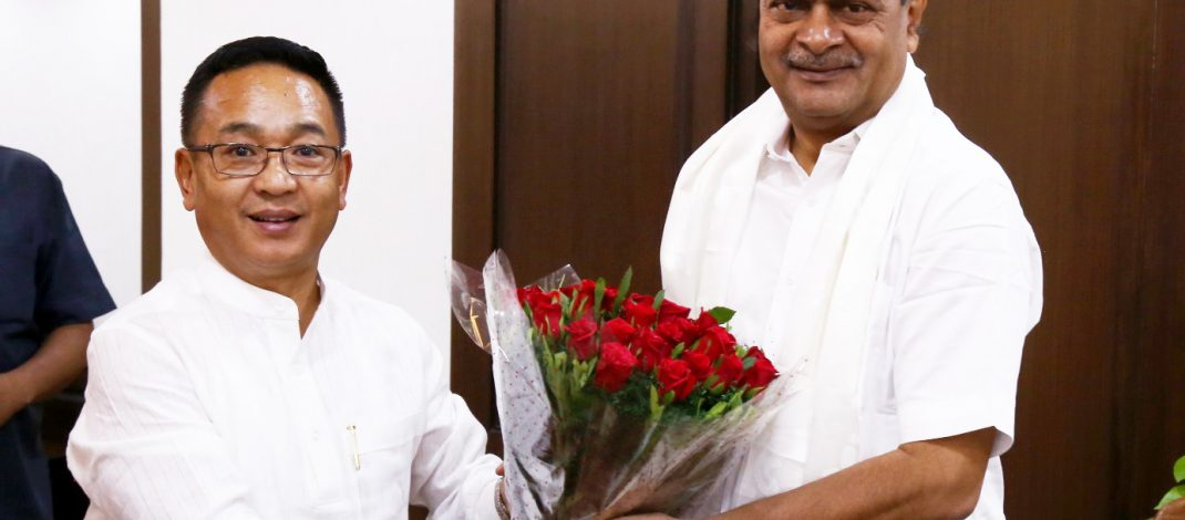 HON'BLE CHIEF MINISTER MEETS UNION MINISTER OF STATE (INDEPENDENT CHARGE) OF NEW AND RENEWABLE ENERGY, POWER