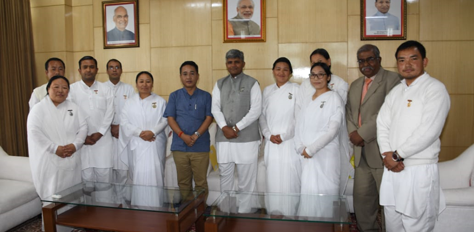 Brahma Kumaris Rajyoga Meditation Centre members call on Hon'ble Chief Minister
