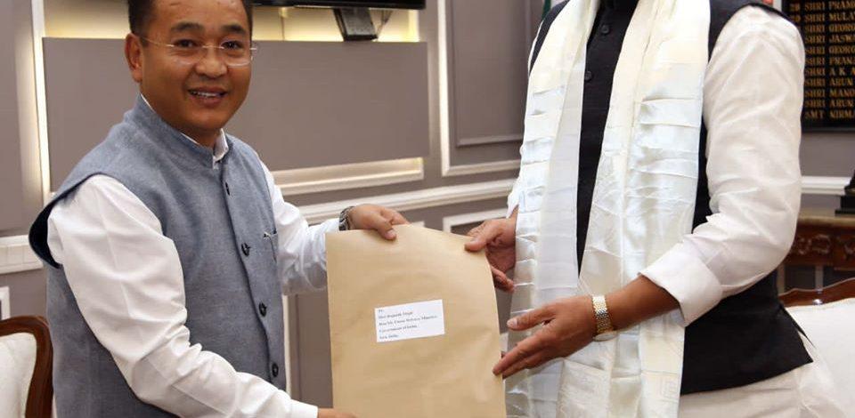 HCM called on the Union Defence Minister Shri Rajnath Singh