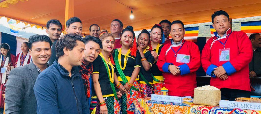HCM visited Gyalchen Karma Thrinlay Monastery at Bishum Phodong
