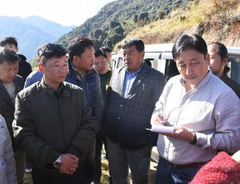Hon'ble Minister Shri. Samdup Lepcha was on a two days visit to West Sikkim