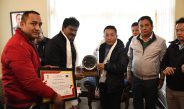 Principal Secretary RDD handed over the National Award to the Hon'able Chief Minister