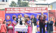 Hon'ble Chief Minister attends the finals for 9th All India Chief Ministers Gold Cup International Football Tournament 2020