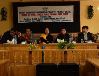 MP Lok Sabha, Shri. Indra Hang Subba attends the DISHA Meeting at Gyalshing, West Sikkim