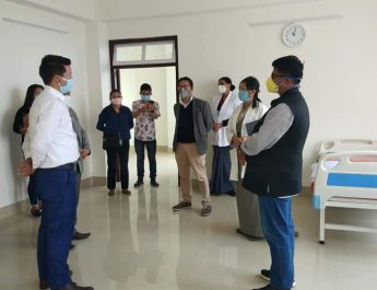 MP Lok Sabha, IPR Minister and PHE Minister visit the District Hospital and Ayush Hospital