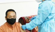 The Hon'ble Chief Minister received the first dose of COVID-19 vaccine