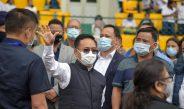 The Hon'ble Chief Minister visits Bhaichung Stadium at Namchi